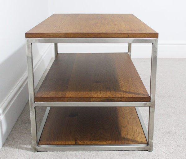 vintage industrial tv table