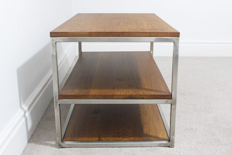 vintage industrial tv table