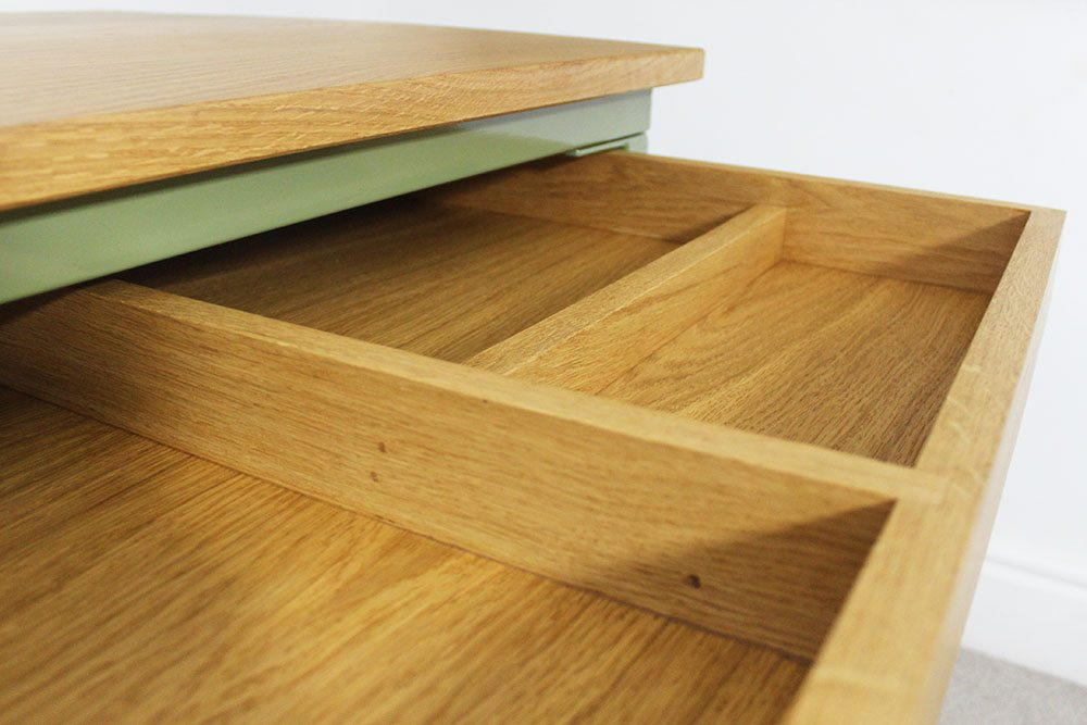 bespoke desk with drawer