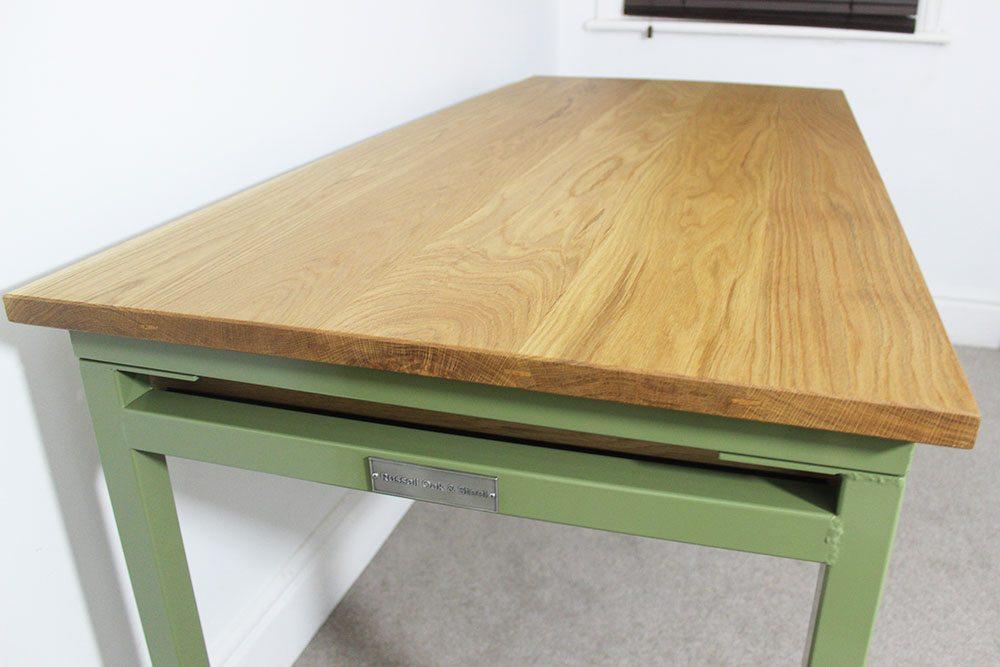 bespoke metal desk with storage