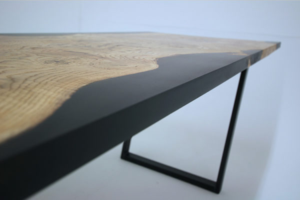 black resin dining tables