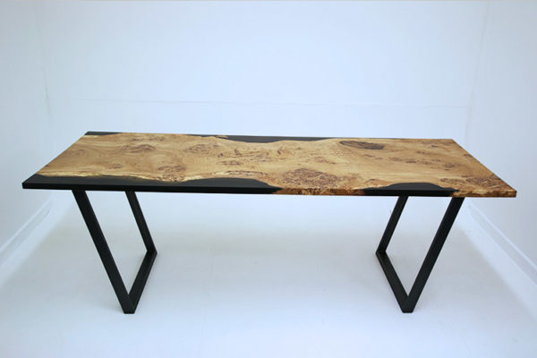 black resin tables