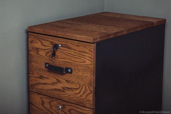 carsington vintage industrial bespoke 3 drawer filing cabinet