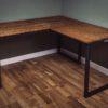 custom industrial vintage corner desks