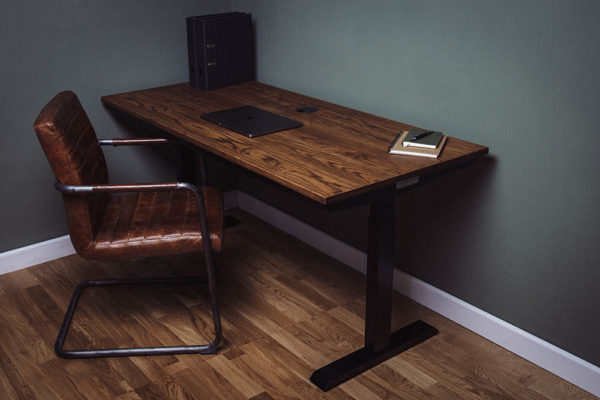 electric vintage oak standing desks