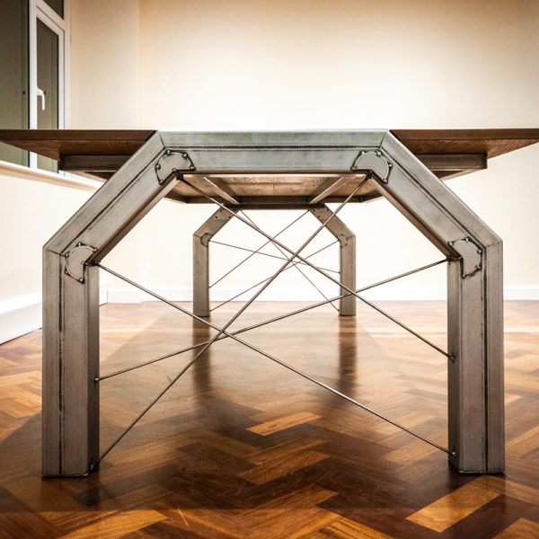 grange metal wood industrial meeting table