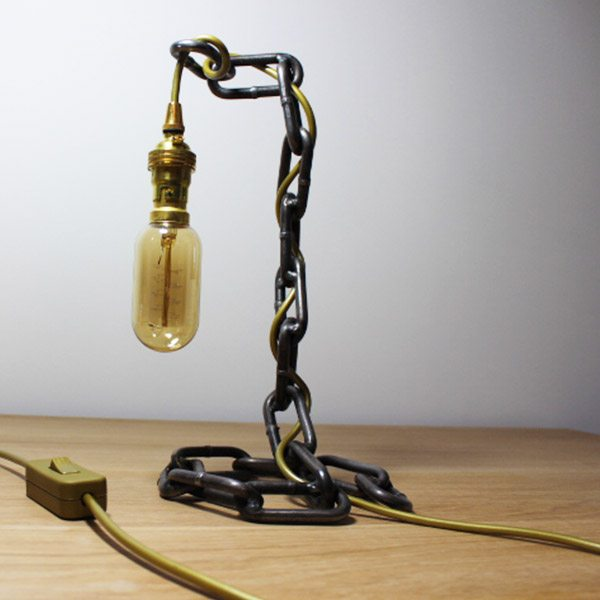 industrial chain desk light