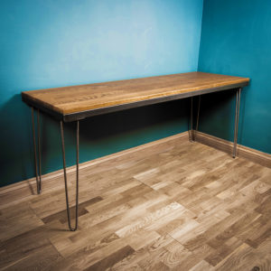 industrial metal hairpin desk
