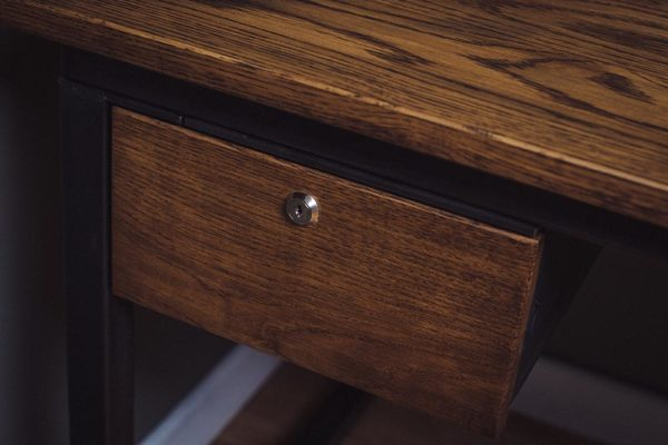 industrial oak and steel drawers