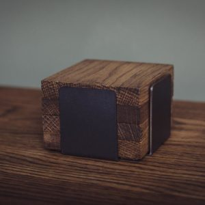 industrial oak coasters