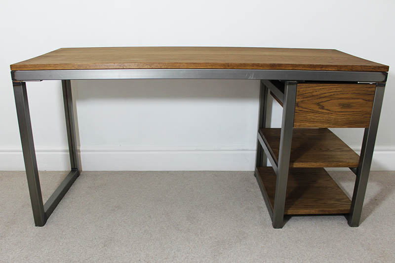 Vintage Industrial Office Desks Bespoke Uk Russell Oak