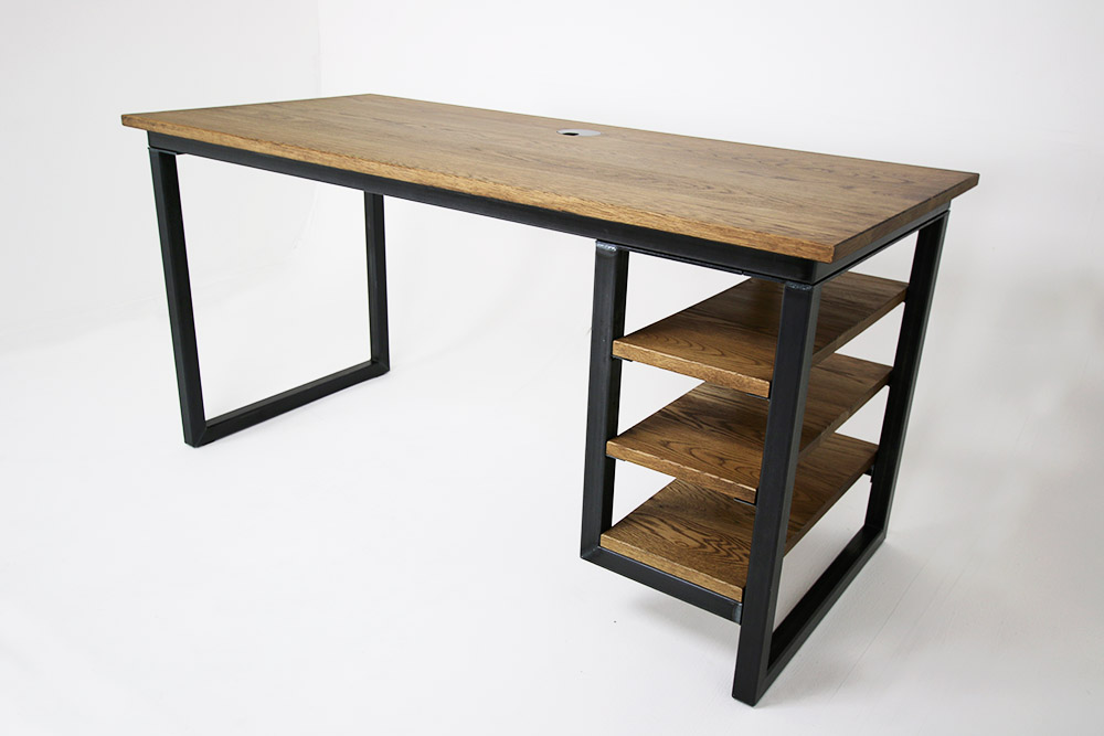 industrial style desks with shelves