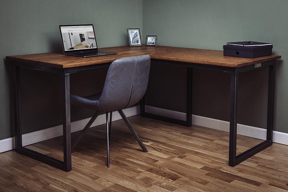 industrial vintage corner desks