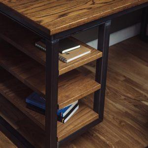 industrial vintage desk shelves