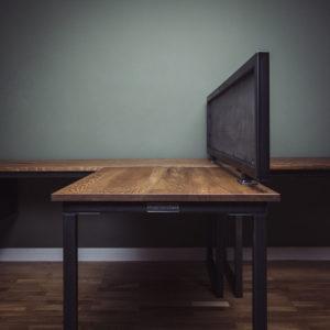 metal desk divider