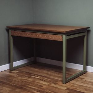 oak desk with under drawer industrial