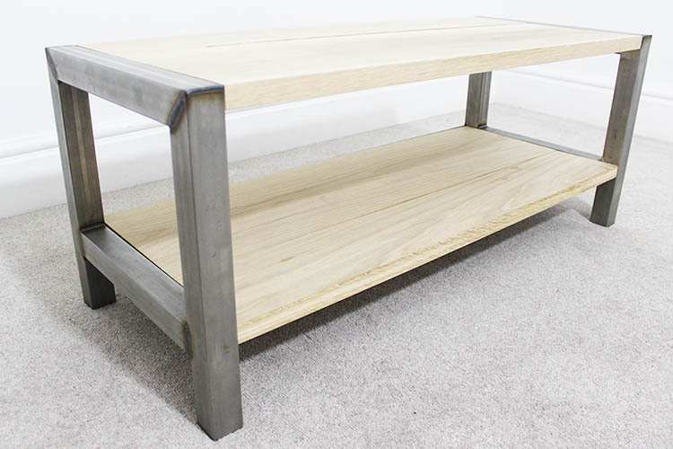 oak industrial coffee table london