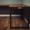 oak industrial vintage corner desks