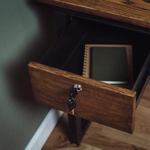 oak industrial vintage drawers