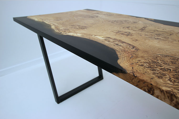 Resin Filled Dining Table