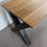 oak x frame desk