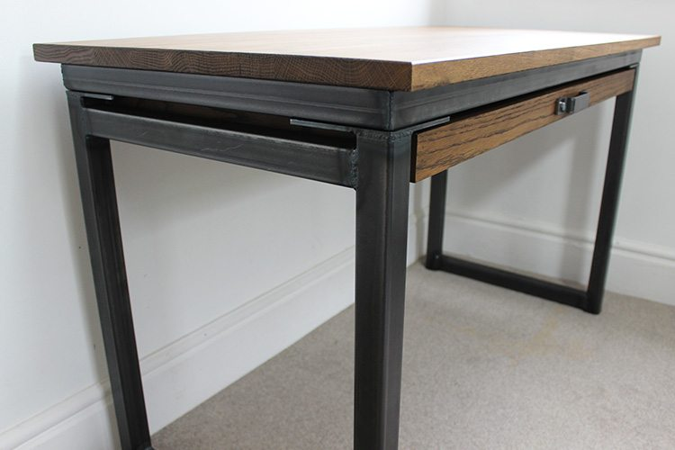 vintage oak desk with drawers