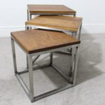 stainless steel nest of tables