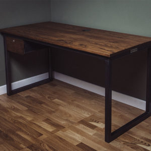 steel remington desk with single drawer