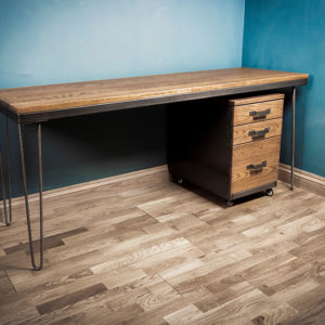 vintage hairpin style office desk