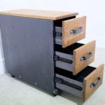 vintage metal file cabinet