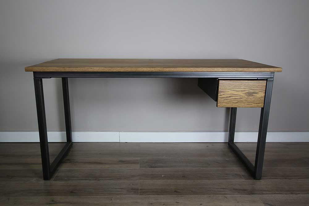 vintage oak desk with drawer