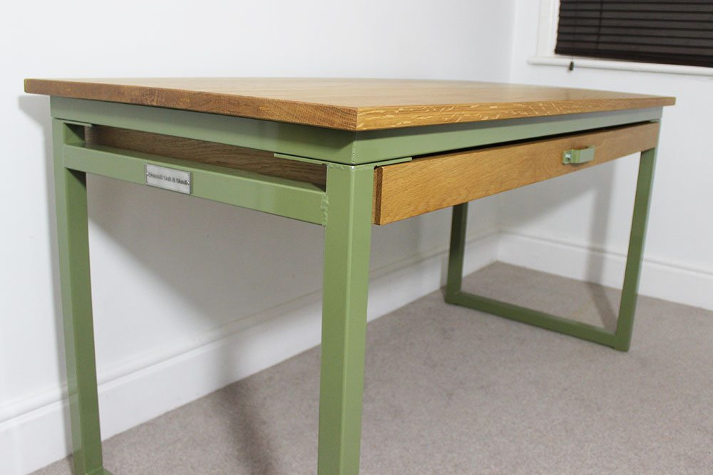 Light Oak Reed Green Desks