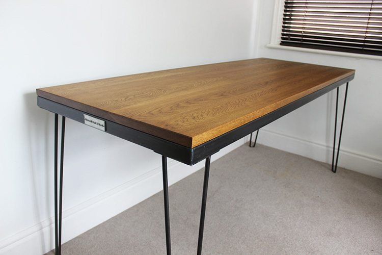 wood industrial style desks