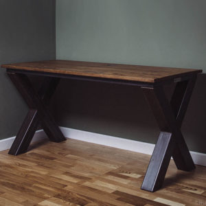 x frame metal desk